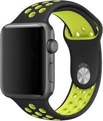 <b>Браслет Wolt Для</b> Apple Watch 42/44 Мм (Черно-Зеленый) Для ...