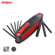 Hi Spec 9pc <b>Folding</b> Allen Key Set <b>Hexagon Torque</b> Wrench Tool ...