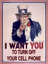uncle sam saying turn off your cell phone