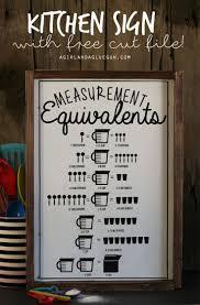 best ideas about kitchen signs farm kitchen kitchen measurement equivalent sign cut file
