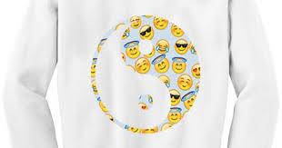 Chicnova Fashion Emoji Print Sweatshirt ($8.50) liked on Polyvore ...