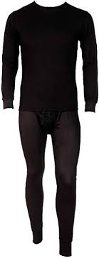 <b>Men's</b> Two Piece Ribbed Long Johns <b>Thermal Underwear Set</b> at ...