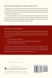 55 successful harvard law school application essays what worked 55 successful harvard law school application essays what worked for them can help you get into the law school of your choice staff of the harvard crimson