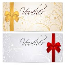 holiday prints parties promos team avalon gift certificate template gift certificate voucher coupon gold template red bow