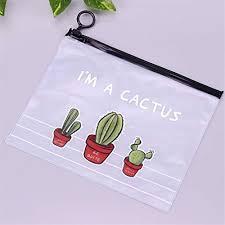 AQYPG <b>Cactus Pvc Waterproof</b> Pencil Cases- Buy Online in ...