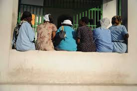 u s department of defense photo essay 20 an women wait outside the operating room at university hospital in port au prince