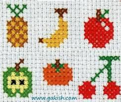 Схемы вышивки для детей, маленькие схемы, фрукты схемы ...
