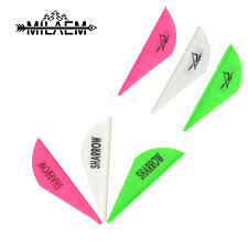 50/<b>100pcs Archery</b> Rubber Arrow Feather 2 inch Short Arrow Vanes ...