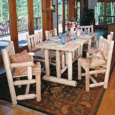 dining room including maple wood table dining room fantastic log cabin furniture including rectangular dining