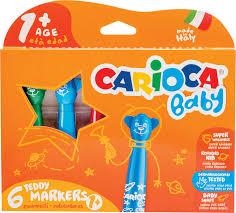 <b>Фломастеры Carioca</b> Baby Teddy Marker, 262567, 6 цветов ...