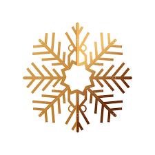 <b>Golden snowflake</b> ornament christmas decoration vector illustration ...
