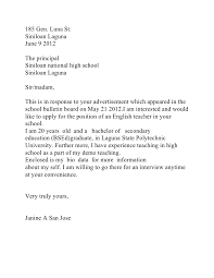 Cover Letter Example Of A Teacher With Pion For Teaching Timmins Martelle