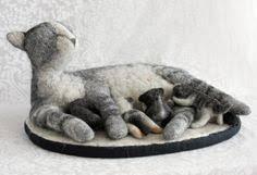 cuddlycub | <b>Валяная</b> скульптура. | Поделки | Needle felted cat, Felt ...