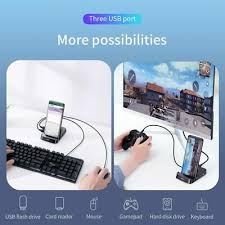 baseus usb c hub to 3 0 hdmi rj45 adapter for macbook pro air multi type with wireless charge iwatch usb c