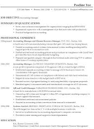 resume  accounting managerexample resume accounting manager