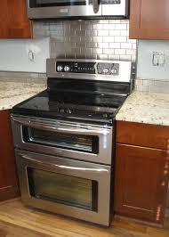 kitchen backsplash stainless steel tiles: attractive stainless steel subway tiles pt stainless steel tile backsplash behind stove