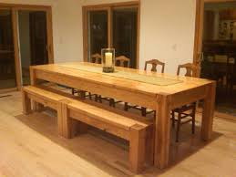 Hickory Dining Room Table Modern Kitchen Table With Bench Ideas All Home Ideas