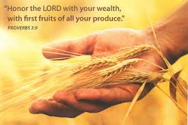 What does the Bible says about firstfruits offering?