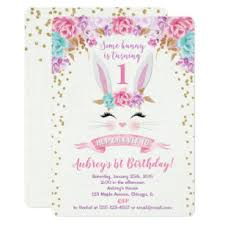 <b>Bunny Birthday</b> Invitations | Zazzle