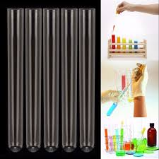 5pcs Pyrex <b>Glass</b> Blowing Tubes Laboratory <b>Test</b> Tube <b>200mm</b> ...