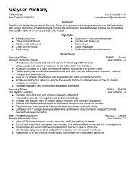security guard resume sample  seangarrette cosecurity officer resume examples and samples   security guard resume sample