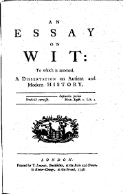 the project gutenberg ebook of essays on wit title page of an essay on wit