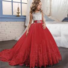 Online Shop <b>Girl Dress Bridesmaid Pageant Gown Dress Girl</b> Kids ...