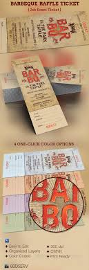 barbeque raffle ticket template fonts church and retro style barbeque raffle ticket template