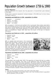 industrial revolution population growth lesson plan worksheet industrial revolution population growth lesson plan