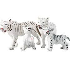 <b>Children'S Simulation</b> Zoo Model Toys <b>Solid Wild</b> Animals White ...