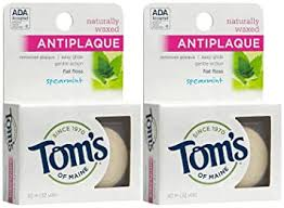 Buy Tom's of Maine <b>Natural Waxed Antiplaque Flat</b> Floss, Spearmint ...