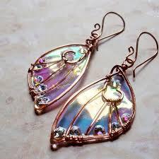 Sidhe <b>Wings</b> Earrings - Daoine Sith - Iridescent Fairy <b>Wing</b> Faery ...
