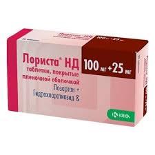 <b>Лориста НД</b> таб. п/о плён. <b>100мг</b>+25 <b>мг</b> №60 (KRKA) — купить в ...