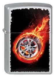 <b>Зажигалка бензиновая Tire</b> On Fire (серебристая, матовая) от ...