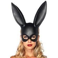 PVC Women Girl Party Cosplay Rabbit Ears Mask Sexy Long Ears ...