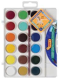 <b>JOVI Акварельные</b> краски <b>18</b> цветов с кисточкой (800/<b>18</b> ...