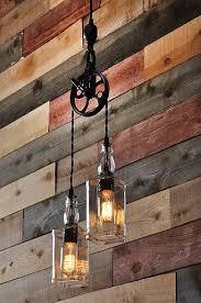 The Warehouser - Rustic Farmhouse <b>Pendant Chandelier Pulley</b> ...