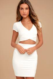 By Your <b>Side</b> Ivory <b>Two</b>-<b>Piece</b> Dress
