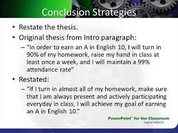 conclusion thesis statement examples  thesis how do you restate a thesis statement