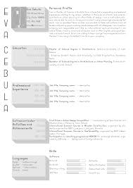 the top architecture résumé cv designs archdaily submitted by ewa
