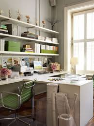 office decoration ideas work 9 small white painted wooden desk for two combined green swivel chairs beautiful relaxing home office design idea