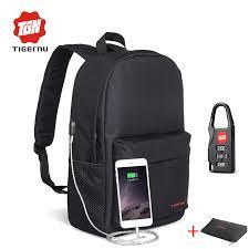 Tigernu Adolescence 14inch USB Laptop <b>Backpacks Men</b> Women ...