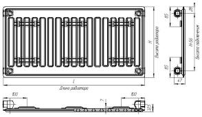 Стальные <b>радиаторы Лидея ЛК</b> Тип 10 ЛК100520