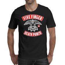 Men Design <b>Printing Five Finger Death</b> Punch 5FDP Logo Black T ...