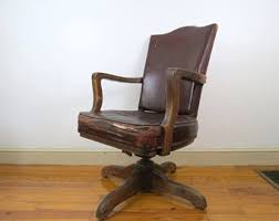 antique leather office chair. vintage maine legislature chair leather style vinyl armchair wooden base arms swivel library antique office