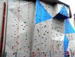 outdoor climbing wall for