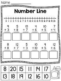 Number lines, Cut and paste and Worksheets on PinterestNumber line cut and paste worksheets - fun way to practice number lines!