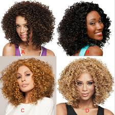 Hot! <b>14inch Short Hair Kinky</b> Curly Wig Synthetic Full Wig For ...