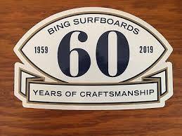 Surfboard sticker Bing Surfboards vintage style surfing decal surf 60 ...