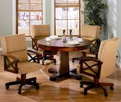dining table with wheels: furnituredivine game tables home decoration club leather table chairs casters dining table winsome small game table